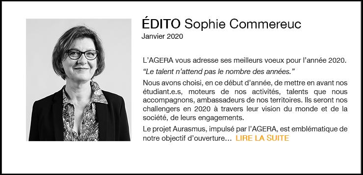 L'AGERA VOUS ADRESSE SES MEILLEURS VŒUX POUR L'ANNÉE 2020